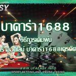 บาคาร่า1688 วิธีการเดิมพัน บาคาร่าออนไลน์  บาคาร่า1688เครดิตฟรี